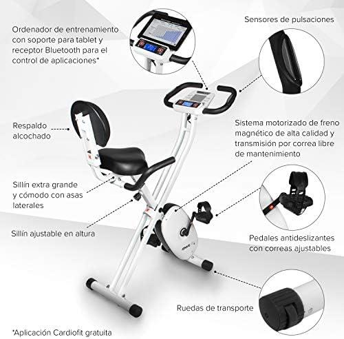SportPlus SP-HT-1004-iE Bicicleta Estática Plegable con Control de ...