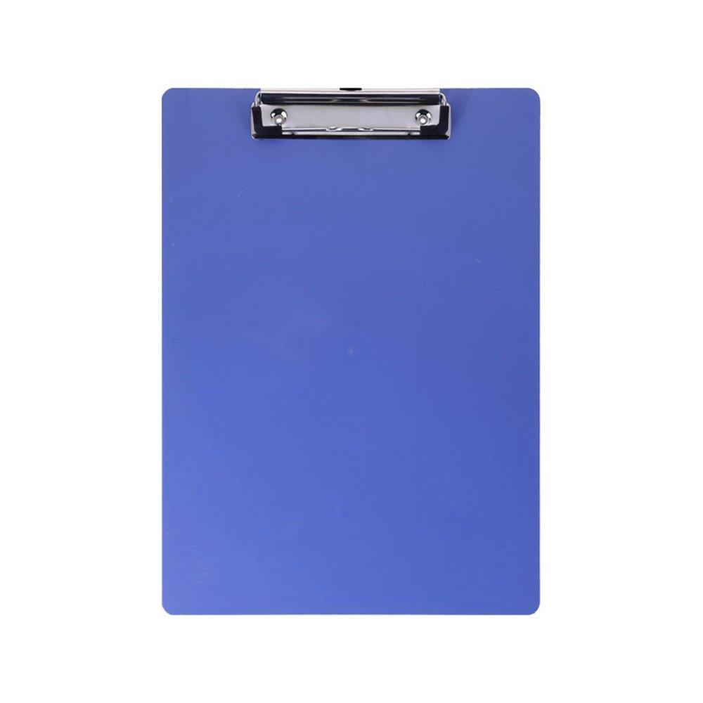 Vevice plastica A4Clipboard Low Profile clip writing Portablocco conferenza per uffici scuole uffici ristoranti Doctor (blu)