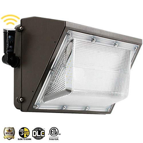 100W Led Wall Pack Light, Dusk to Dawn Photocell for 120-277V, Outdoor Lighting, 5000K, 11000Lumen, Ip65 Waterproof Security Area Lighting, 5 Years ()