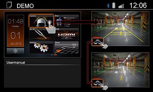 Bluetooth USB HDMI X-402: 2-DIN Naviceiver mit DAB+