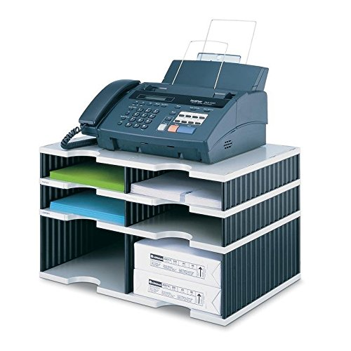 Ultimate Office 6-Slot Combination Sorter (4 Standard/2 High-Wall), Gray w/Black by Ultimate Office