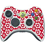 Fun Flowers Pattern Bold Xbox 360 Wireless Controller Vinyl Decal Sticker Skin by Debbie's Designs