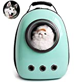 Lemonda Portable Travel Pet Carrier,Space Capsule Bubble Design,Waterproof Handbag Backpack for Cat and Small Dog Mutil Colors to Choose (Cyan)