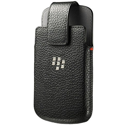 (BlackBerry ACC-60088-001 Leather Swivel Holster Case for Blackberry Classic Q20 - Retail Packaging - Black)