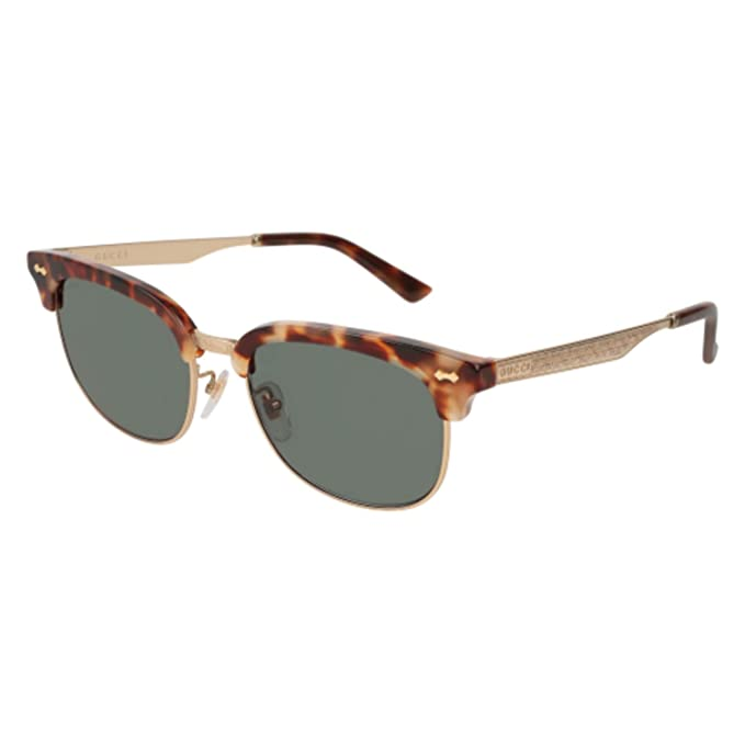 f3b0e8fc05 Sunglasses Gucci GG 0051 SA- 002 HAVANA   GREEN GOLD  Amazon.ca  Clothing    Accessories