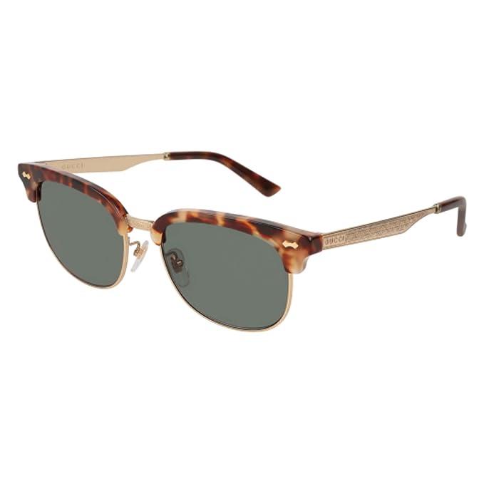 Sunglasses Gucci GG 0051 SA- 002 HAVANA   GREEN GOLD  Amazon.ca  Clothing    Accessories 55d9a1b59f