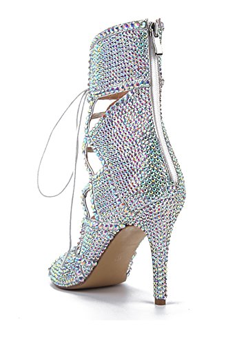 TDA - Zapatos con tacón mujer plata