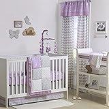 Wild & Free Patchwork Pink/Purple Crib Bedding - 20 Piece Nursery Essentials Set