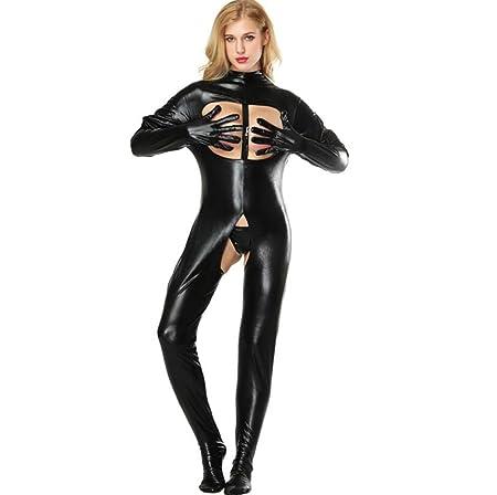 SHANGXIAN Mujer Sexy Latex Catsuit Erótico Wetlook Mono ...