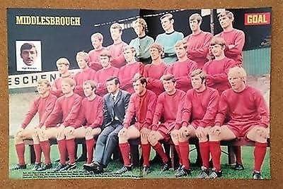 GOAL Football Magazine Middlesbrough 1969-70 BORO memorabilia team picture