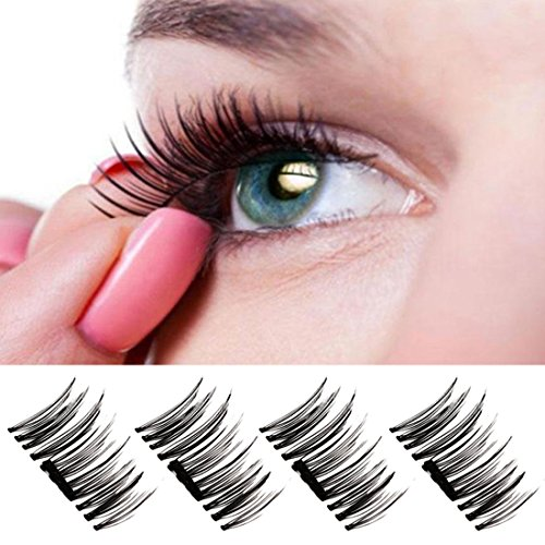 NEWEST-VERSION3D-Magnetic-False-Eyelashes-Handmade-Eyelashes-Fake-Eyelashes-Mess-Free-Reusable-Lashes-02mm-Ultra-thin-3D-Fiber-for-Deep-Set-Eyes-Round-Eyes-1-Pair-4-Pcs