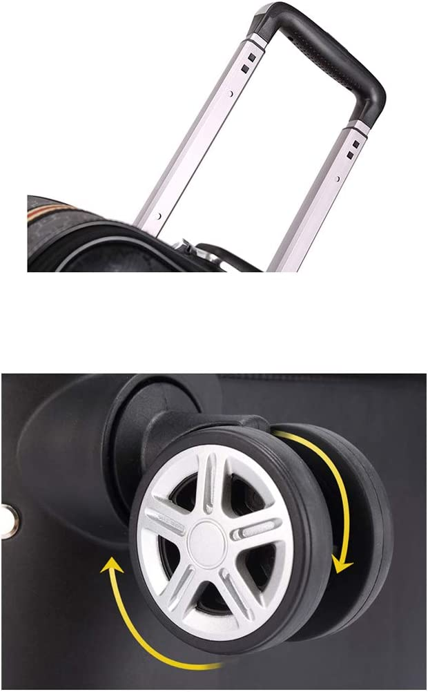 Size : 22 inch Luggage 8 Wheel Suitcase Aluminum Alloy Rod for Easy Stretching Rolling Leather Lock