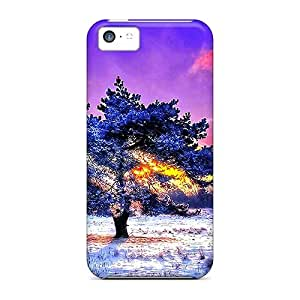 Case Cover Protector For Iphone 5c Alone In Coldness Case