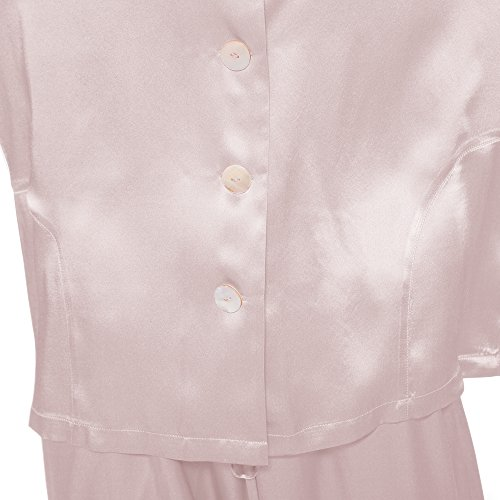 Lilysilk Pijamas Mujer De Seda Clásicas 100% Seda De Mora Natural De Grado 6A Rosa Claro