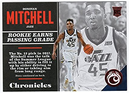 Donovan Mitchell 2017-18 Panini Chronicles Rookie Card Red Parallel Serial   080 299 5c8852b93