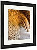 Ashley Framed Prints Wave Archway Park Guell Barcelona Spain, Wall Art Home Decoration, Color, 40x34 (frame size), Black Frame, AG5410504