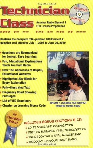 Read Online Technician Class: 2006-10 FCC Element 2 Amateur Radio License Preparation PDF