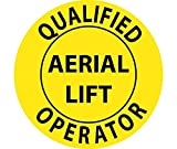 Qualified Aerial Lift Operator Hard Hat Emblem - Pack of 25
