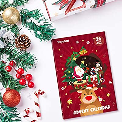 Christmas Tree Fillers.Christmas Tree Hangings Set 1pc Advent Calendar With 24pcs