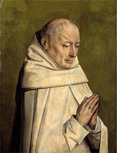 The Perfect Effectキャンバスの油絵「Portrait of a Monk by不明なFlemish Masters」、サイズ: 24X 31インチ/ 61x 80cm、このが安いアート装飾アート装飾プリントキャンバスは、フィットfor Nurseryギャラリーアートとホーム装飾、ギフトの商品画像