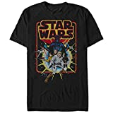 Star Wars Men's Old School Comic Graphic T-Shirt, Black, M