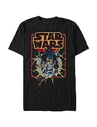 Star Wars Mens Old School Comic Graphic T-Shirt