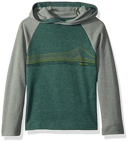 Columbia Boys' Little Trulli Trails Waffle Hoodie, Forest/Cypress, XX-Small