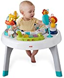play centers - Fisher-Price 2-in-1 Sit to Stand Activity Center, Spin 'n Play Safari