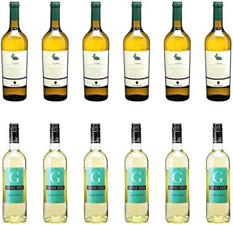 [ 12本 まとめ買い ワイン 飲み比べ ] 2019年 ファレーリオ (ヴェレノージ) 750ml と 2018年 ジ ガルガネガ (アルファ ゼータ) 750ml ワインセット