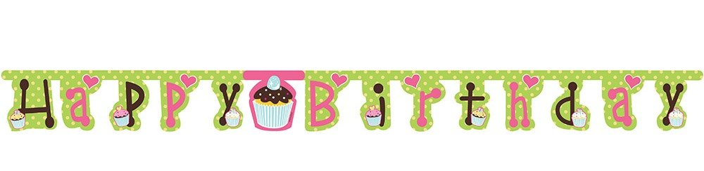 Jointed Happy Birthday Banner Sweet Treats Creative Converting 295011