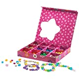 Serabeena Jewelry Making Kit for Girls Includes 300 Beads, Deluxe Jewelry Box, Clasps and Cords - Fun Crafts for Girls