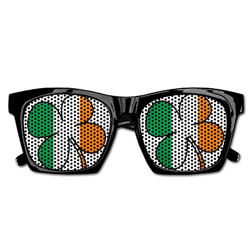 Shamrock Ireland Flag Unisex Polarized Party Sunglasses Resin Frame Eyewear Favor Mesh Lens Sun - Glasses Ireland Frames