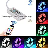 Fivoice WiFi Wireless Led Controller Compatible with Alexa and iFTTT Working with Android and IOS System Mobile Phone Free App for RGB LED Light Strips 5050 3528 LEDs