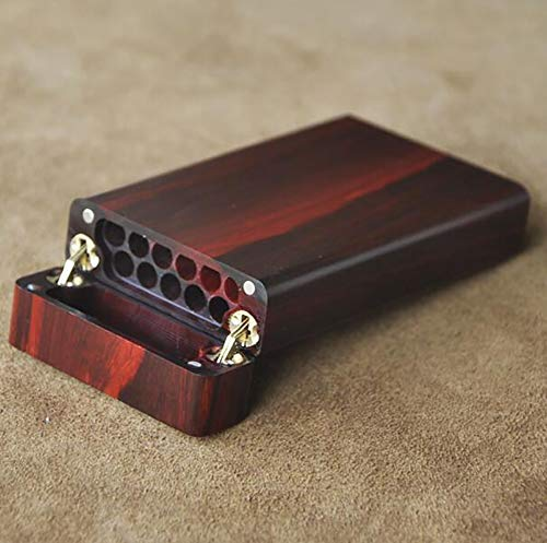Cigarette Case Hand Made Rose Wood Natural logs Birthday Present Men and Women Cigarette Case Accommodates 11 Cigarettes (with Gift Box) by CSCR (Image #3)