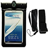 Waterproof Case, FONTAR Universal [Float] Waterproof Cell Phone Case [With Compass,Armband,Lanyard] for iPhone 6,6S,6 Plus,6S Plus, Samsung Galaxy S5,S6,S7,Edge,Note 4,5,LG G3,G4,G5 (Black)