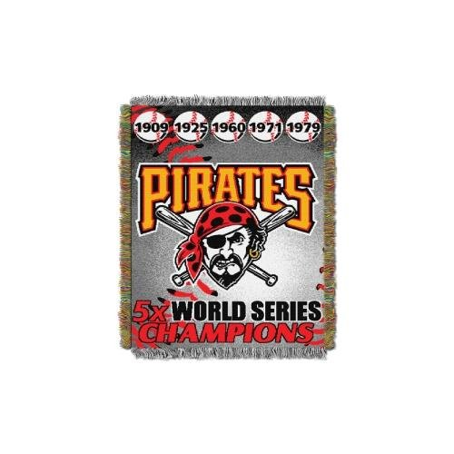 Commemorative Woven Mlb Tapestry Throw (MLB Pittsburgh Pirates Commemorative Woven Tapestry Throw, 48