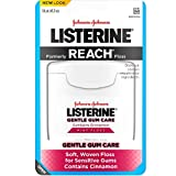 Listerine Gentle Gum Care Interdental Floss for Sensitive Gums, Oral Care, Mint, 50 Yards (Pack of 4)