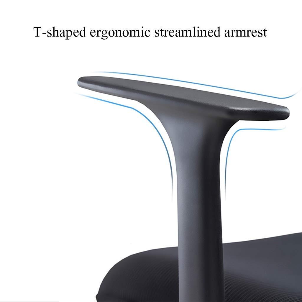 YYL kontorsstol ergonomisk dator svängbar stol, hemmakontor nät ryggstöd chef stol med ländrygg stöd och armstöd svängbar stol (färg: Stil2) style4