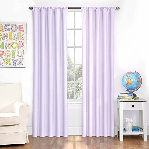 Eclipse 10708042X084PUR Microfiber 42-Inch by 84-Inch Thermaback Grommet Blackout Single Window Panel, Purple