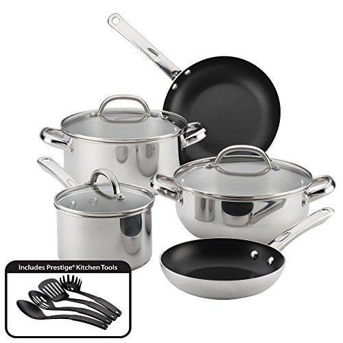 Farberware Buena Cocina Stainless Steel Cookware Set, 12-Piece