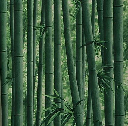 Eurotex Bamboo Design Square Vinyl Coated Wallpaper (50.01 cm x 10 cm x 10 cm, Green)