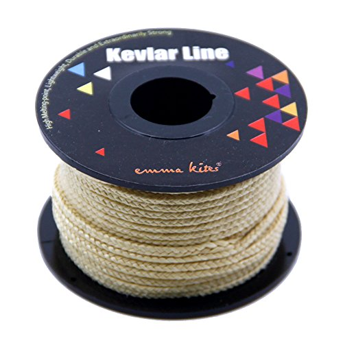 emma kites Kevlar Braided Cord 500lb 50ft High Strength Low Stretch Tent Tarp Guyline Suspension for Camping Hiking Backpacking Recreational Marine Outdoors Activities by emma kites (Image #2)