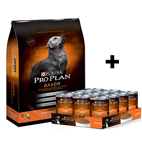 Purina Pro Plan With Probiotics Dry Dog Food, SAVOR Shredded Blend Beef & Rice Formula - 35 lb. Bag