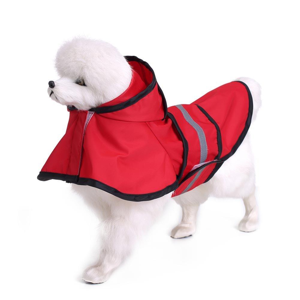 Symboat Chaqueta impermeable forro de muletón reflectante cordón caliente capucha para perro de perro Golden Retriever