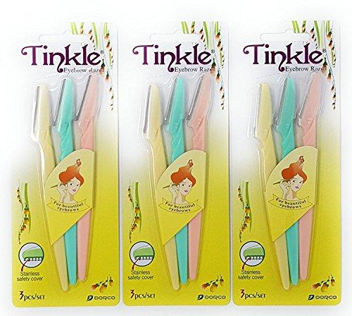 3 pk (9 razors) Tinkle Dorco Eyebrow Razor