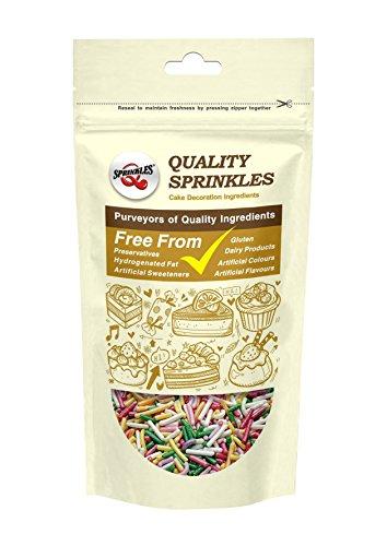 Natural Color Rainbow Sprinkles / Sugar Strands / Jimmies ...