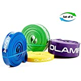 Olamir Pull Up Assist Band Resistance Bands Exercise Bands For Body Stretching Powerlifting Bands Set of 4