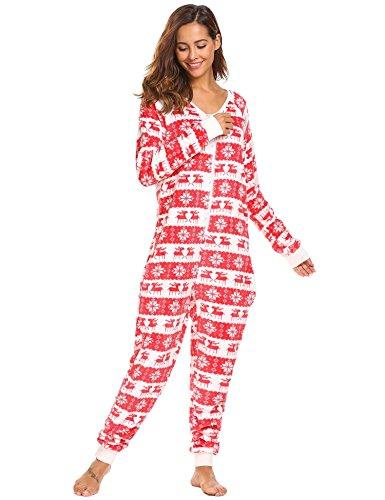 Aimado Women's Nightwear Contrast Color Patchwork Spaghetti Straps Sleepwear (White Red, ()