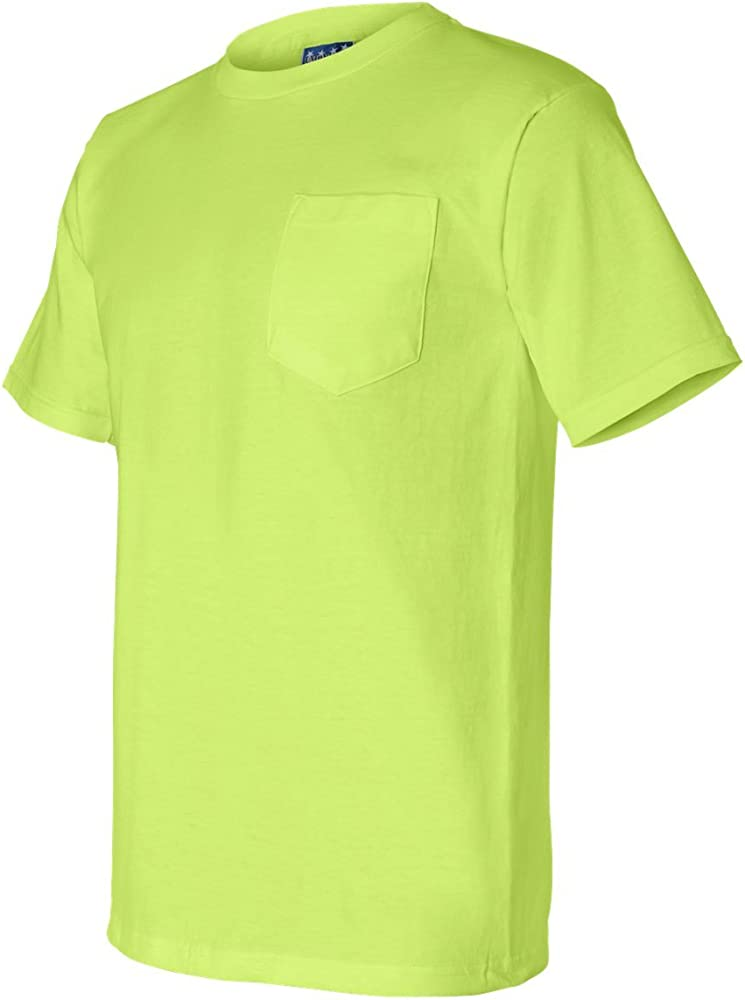 Union Made 3015 A Division of Bayside Adult Cotton Pocket Tee