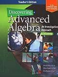 advanced algebra teachers edition - Discovering Advanced Algebra, Level 2: An Investigative Approach, Teacher's Edition